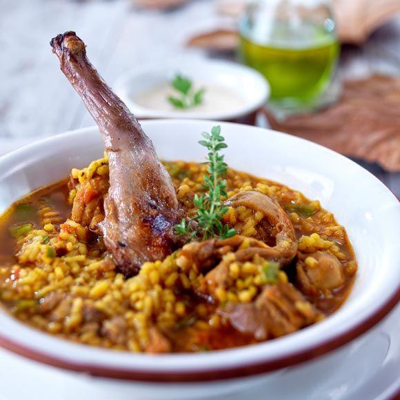 Arroz Caldoso Con Setas Y Pollo arroz caldoso con conejo y setas | arroces | pinterest