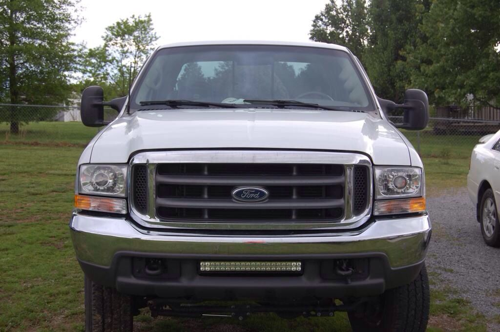 An f250 with a 21 performance series led light bar in the bumper an f250 with a 21 performance series led light bar in the bumper from bean aloadofball Images
