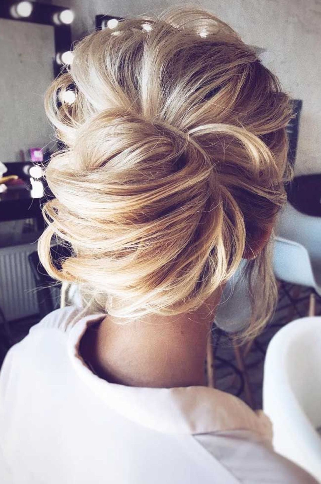Modern Day Chignon Style Low Messy Bun Updo Beautiful Look For Any Special Occasion Hair Styles Long Hair Styles Wedding Hairstyles