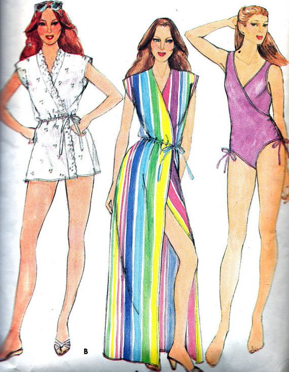1970s Swimsuit Pattern Butterick 3902 Womens One by paneenjerez, $10.00