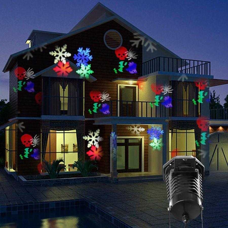 クリスマスハロウィンレーザープロジェクターledステージライト防水10交換可能なパターン休日パーティー風景装飾ライト