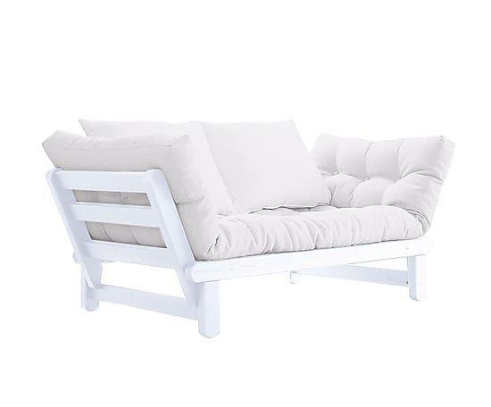 Sofá convertible en cama futón Beat - blanco y natural