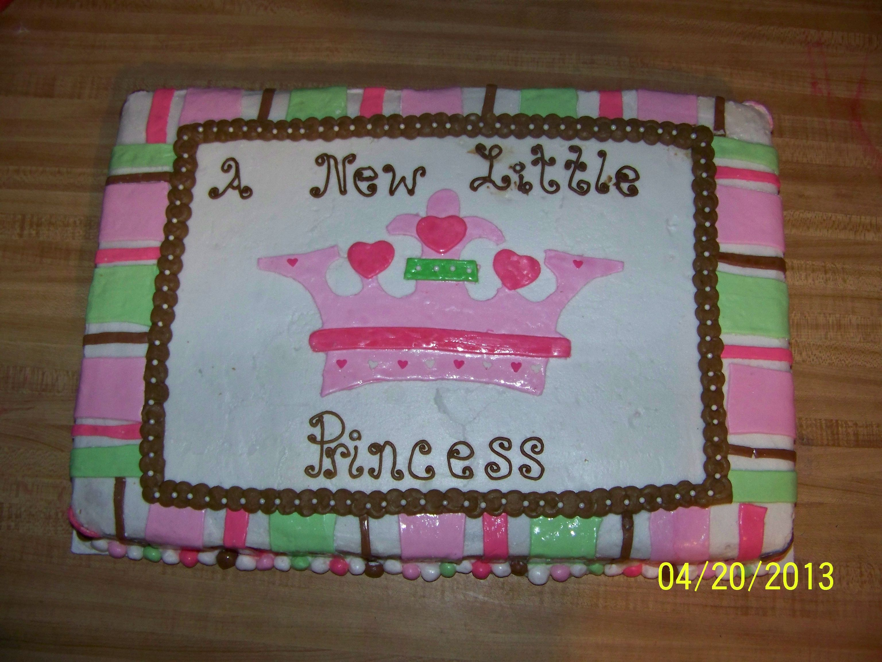 A New Little Princess Baby Shower Cake Baby Shower Cakes