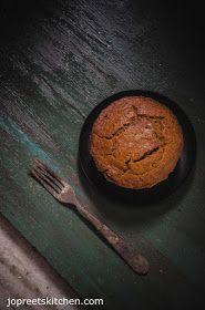 Carrot Jaggery Cake (Egg-less & Butter-less)