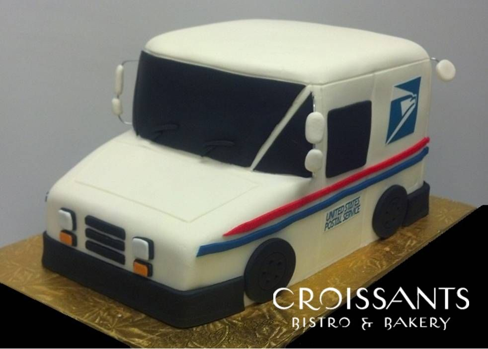 Magnificent Mail Truck Specialty Cake Dad Birthday Cakes Bingo Cake Truck Personalised Birthday Cards Akebfashionlily Jamesorg