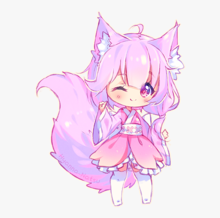 Freetoedit Cute Kawaii Girl Anime Manga Chibi Fox Chibi