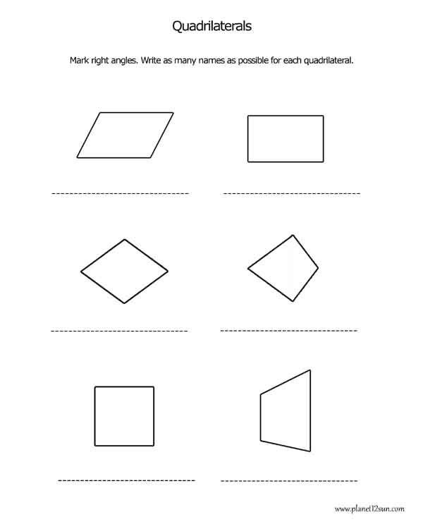 quadrilaterals 2 | Worksheets | Pinterest