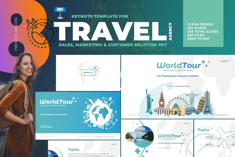 Download Travel Agency Keynote Slide Template Presentation