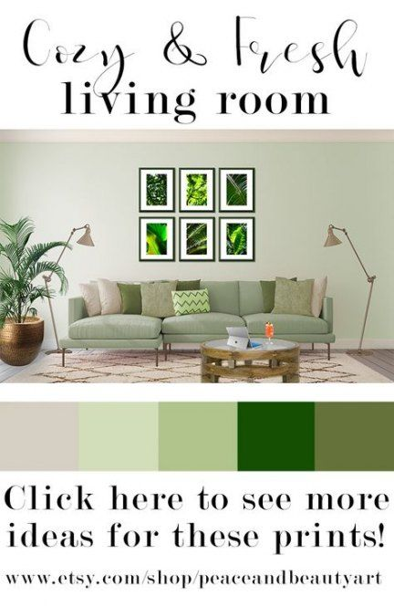 Best living room green couch botanical prints Ideas images