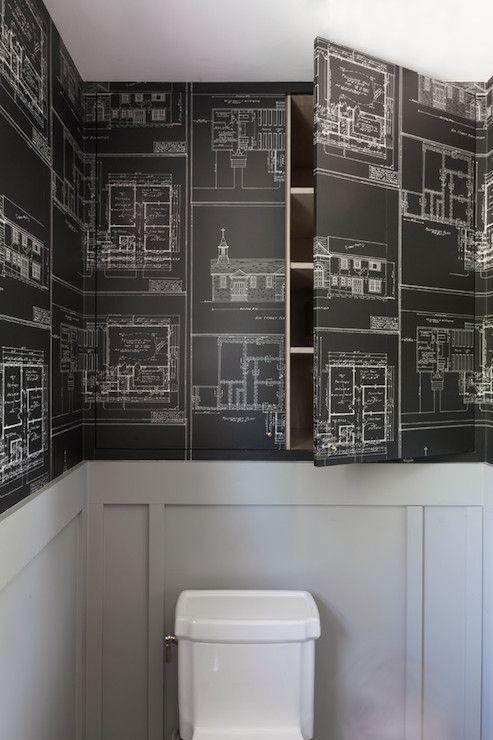 hidden cabinets eclectic bathroom hsh interiors - Eclectic Bathroom Interior