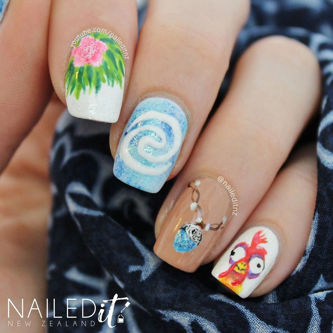 Moana Nails   Disney Inspired Nails and Makeup   Pinterest   Moana ...