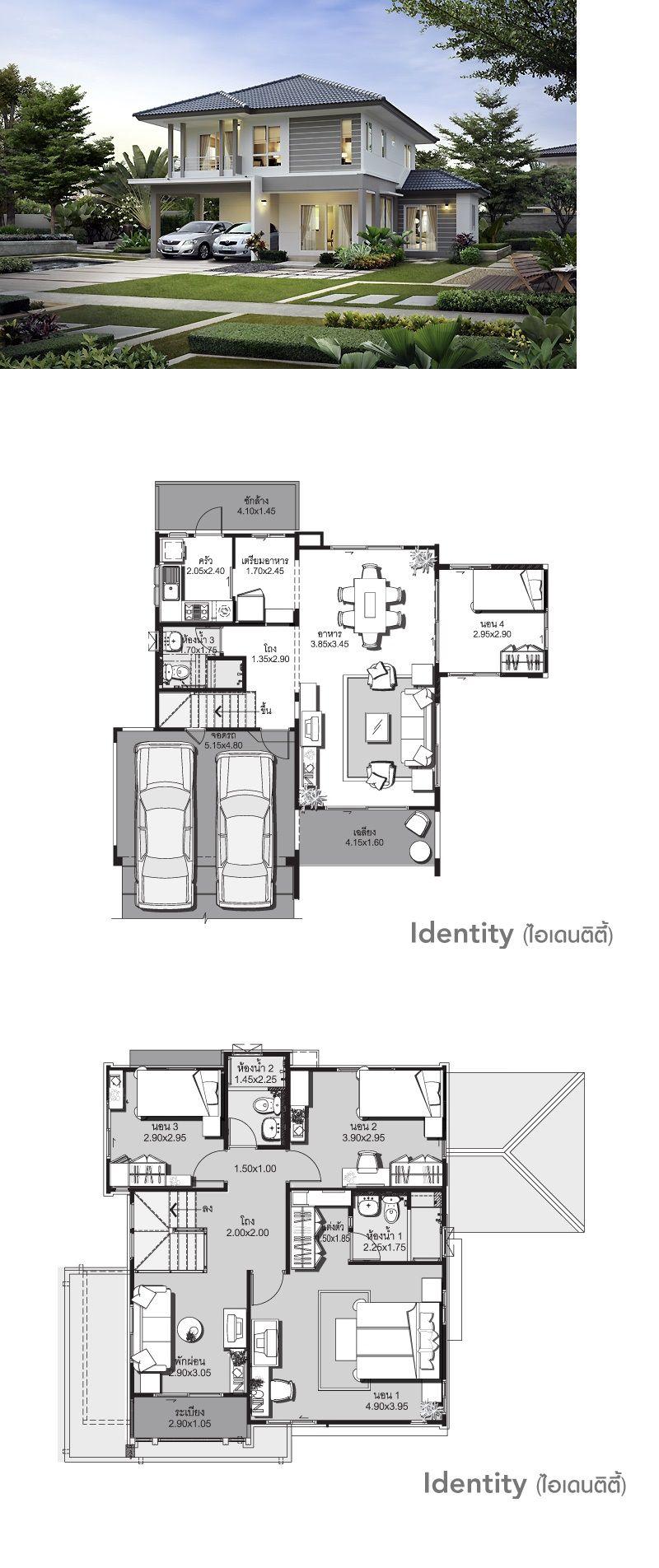 Land And Houses Arsitektur Arsitektur Modern Denah Rumah
