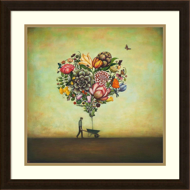 duy huynh big heart botany framed art print 22 x 22 inch wall