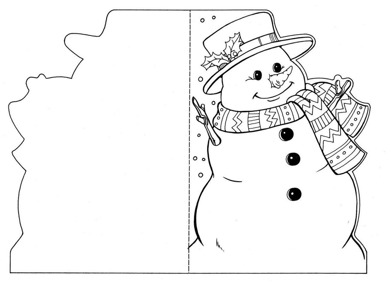 Шаблоны для новогодних открыток своими руками, поздравление днем
