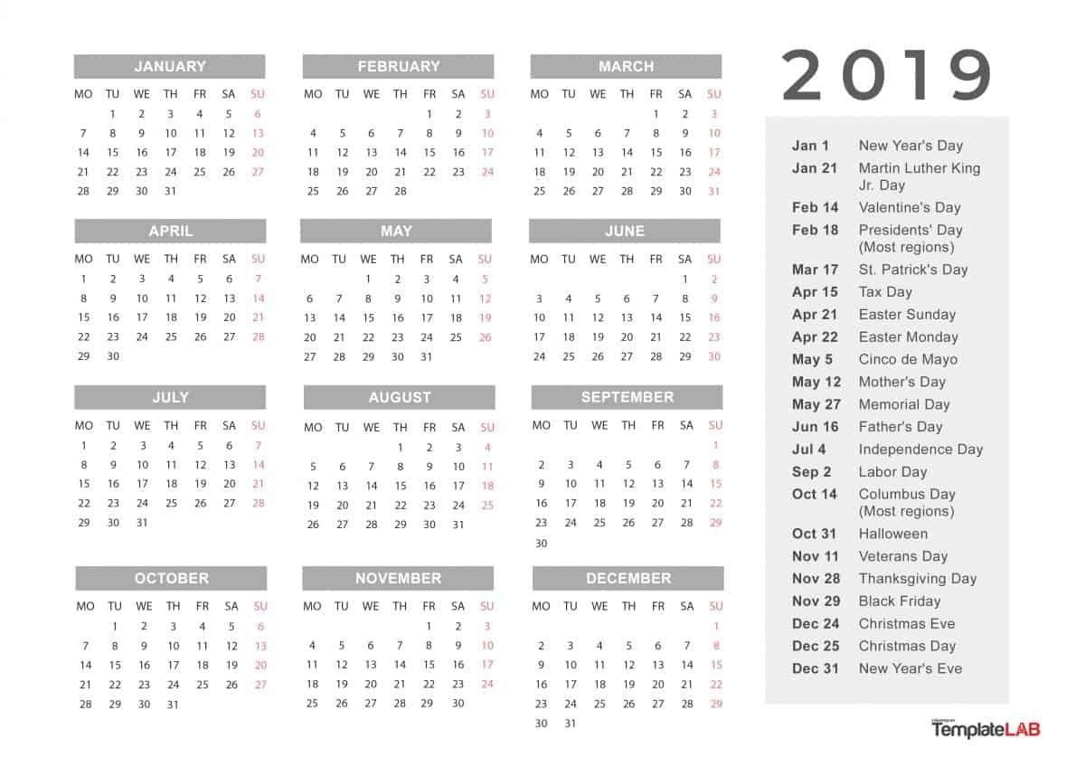 Month At A Glance Blank Calendar In 2020 Calendar Template
