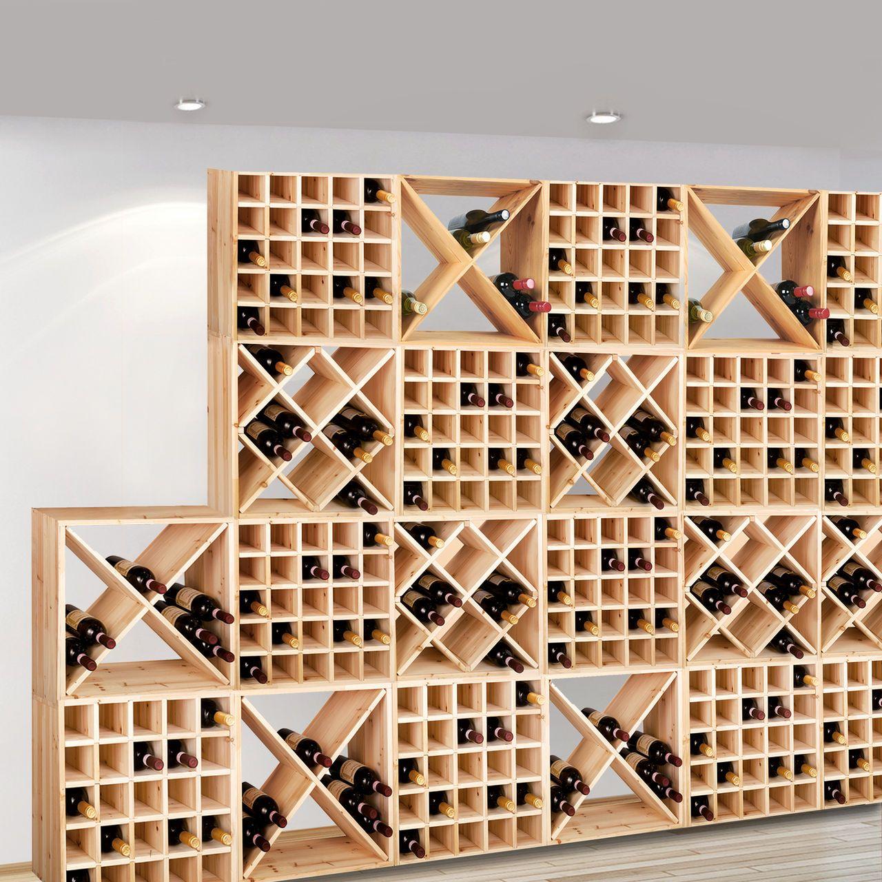 weinregal system cube 52 natur weinregale weinregal. Black Bedroom Furniture Sets. Home Design Ideas