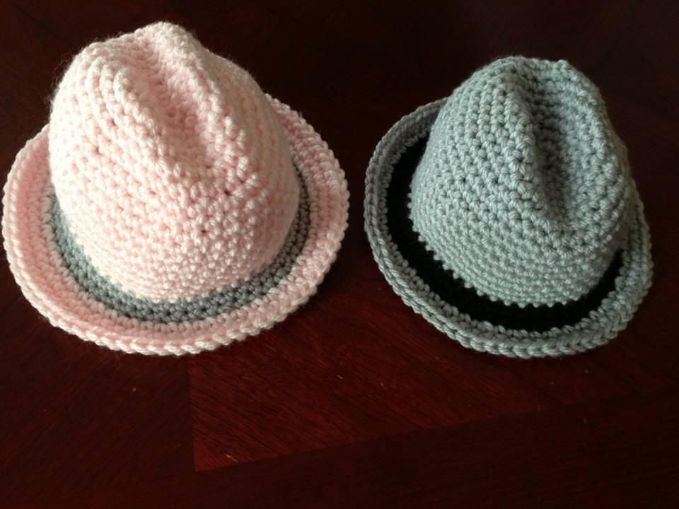 Newborn Fedora Pattern Crochet Love Pinterest Crocheting