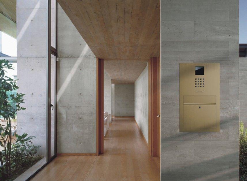 sss siedle door station steel design with brass finish. Black Bedroom Furniture Sets. Home Design Ideas