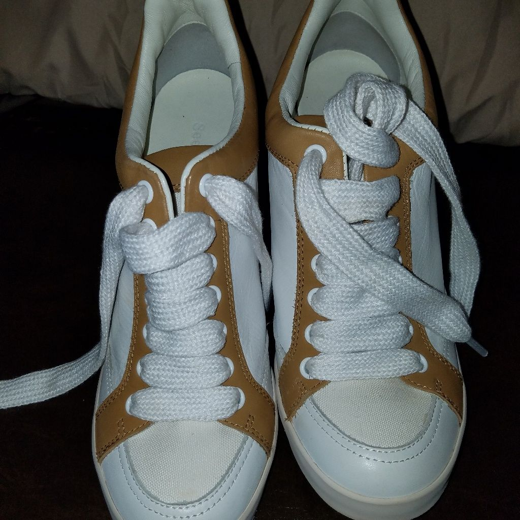 See By Chloe Shoes   See By Chloe Sneakers   Color: White/Tan   Size: 9 #seebychloe