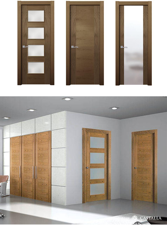 Puerta de interior oscura modelo viena de la serie lisa for Modelos de puertas