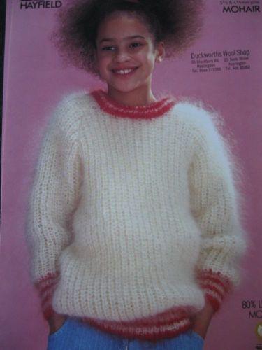 Hayfield Knitting Pattern 3031 Childs Girls Mohair Sweater