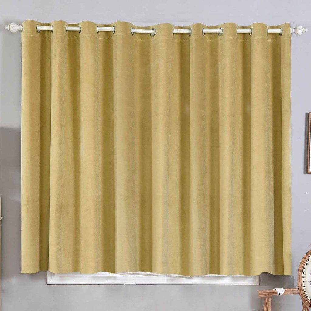 Champagne Blackout Curtain 2 Packs 52 X 64 Inch Long Curtains Room Darkener Curtains In 2020 Blackout