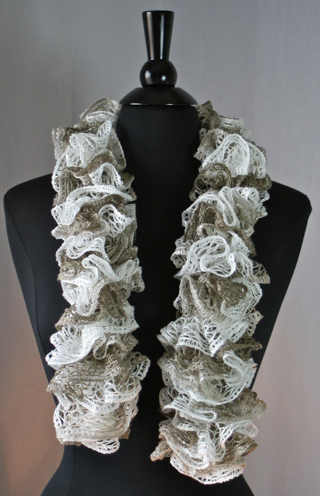 Ruffled Scarf Crochet Instructions | Knots-n-Knits: Crocheted ...