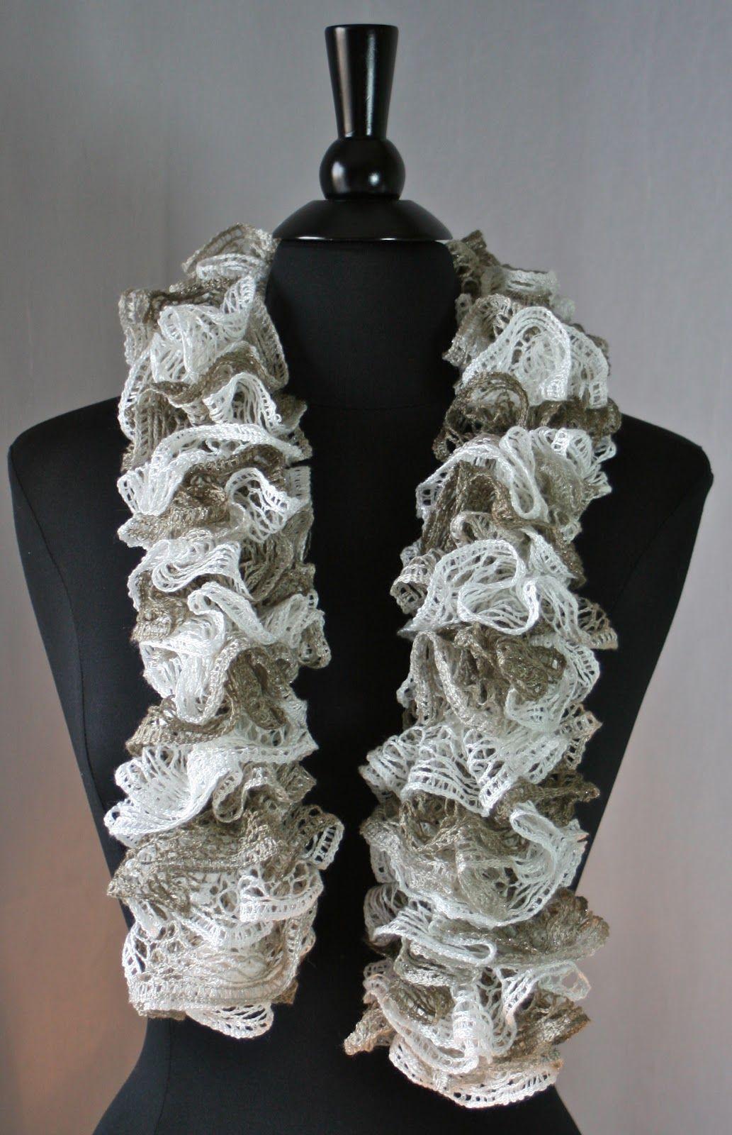 Ruffled Scarf Crochet Instructions
