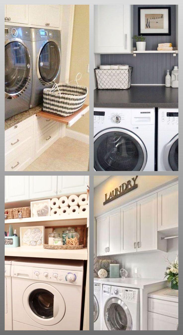 Small Laundry Room Organization Ideas   Small laundry area, Small ...
