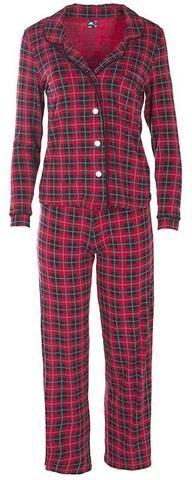 59fd38c8ab2f KicKee Pants Holiday Plaid Women s Collared Pajama Set