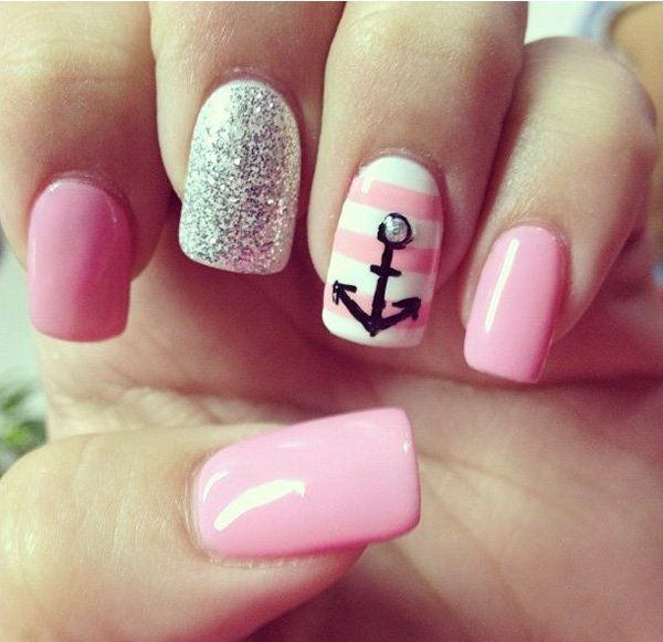 60 cute anchor nail designs elegant styles stability and 60 cute anchor nail designs prinsesfo Images