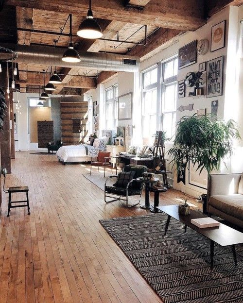 Modern Wohnzimmer In Holz Und Leder. Inspiration Zu Deko Haus Http ... Holzbalken Wohnzimmer Modern
