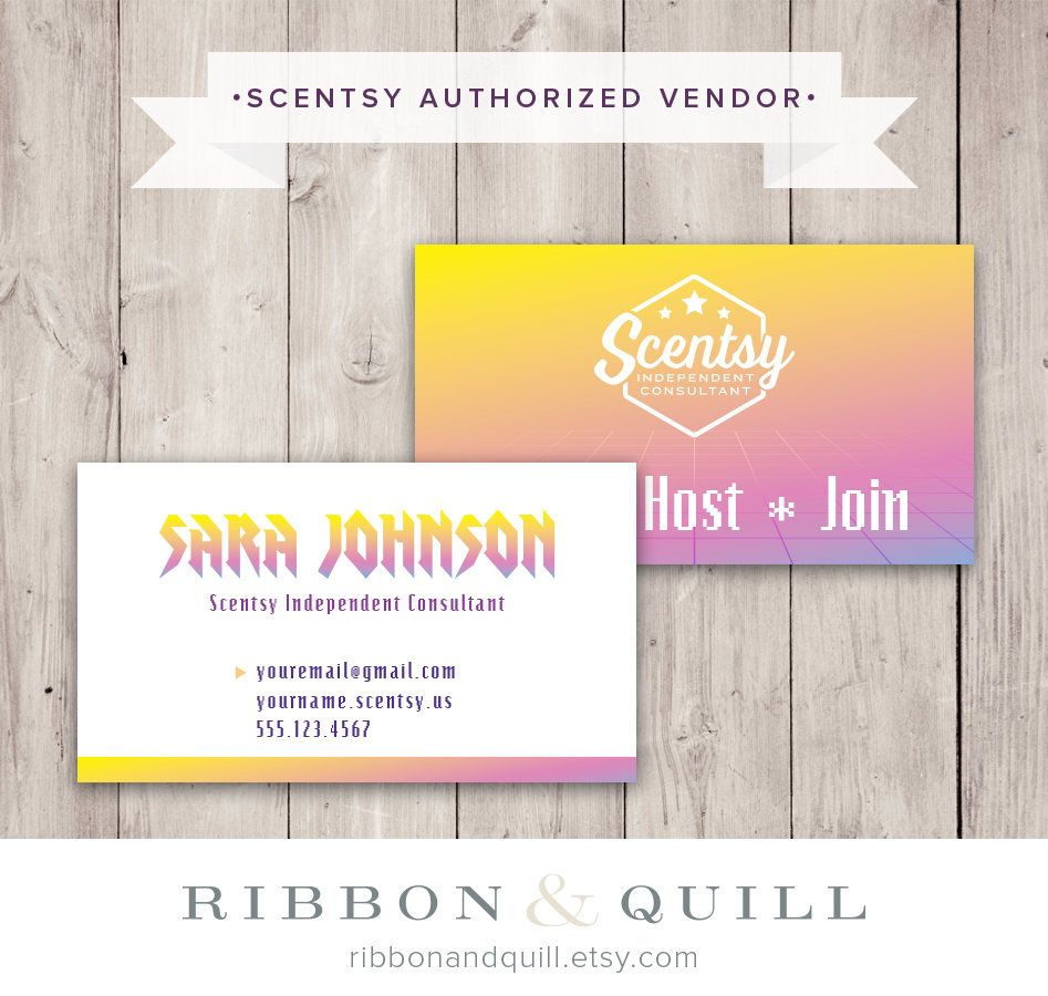 Authorized Scentsy Vendor • Scentsy 80s Baby Business Card • DIGITAL ...
