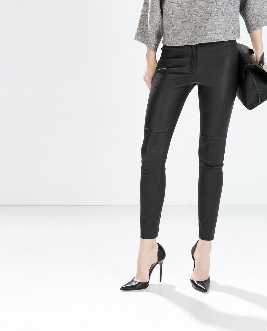 1bdfd06b ZARA - WOMAN - LEATHER SKINNY TROUSERS   ZARA en 2019   Trousers ...