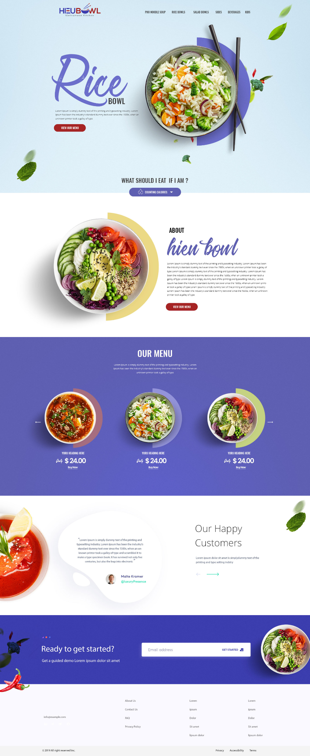 HieuBowl Web design
