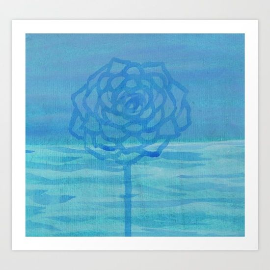 Blue Rose and Horizon - $15