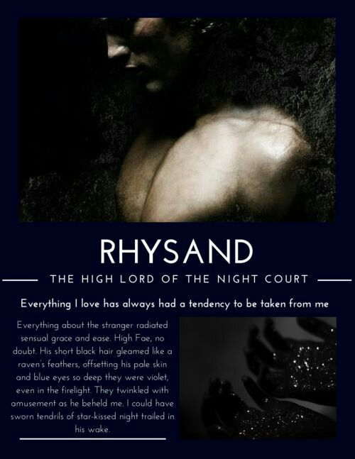 Rhysand High Lord Of The Night Court Quote Court Of Mist And