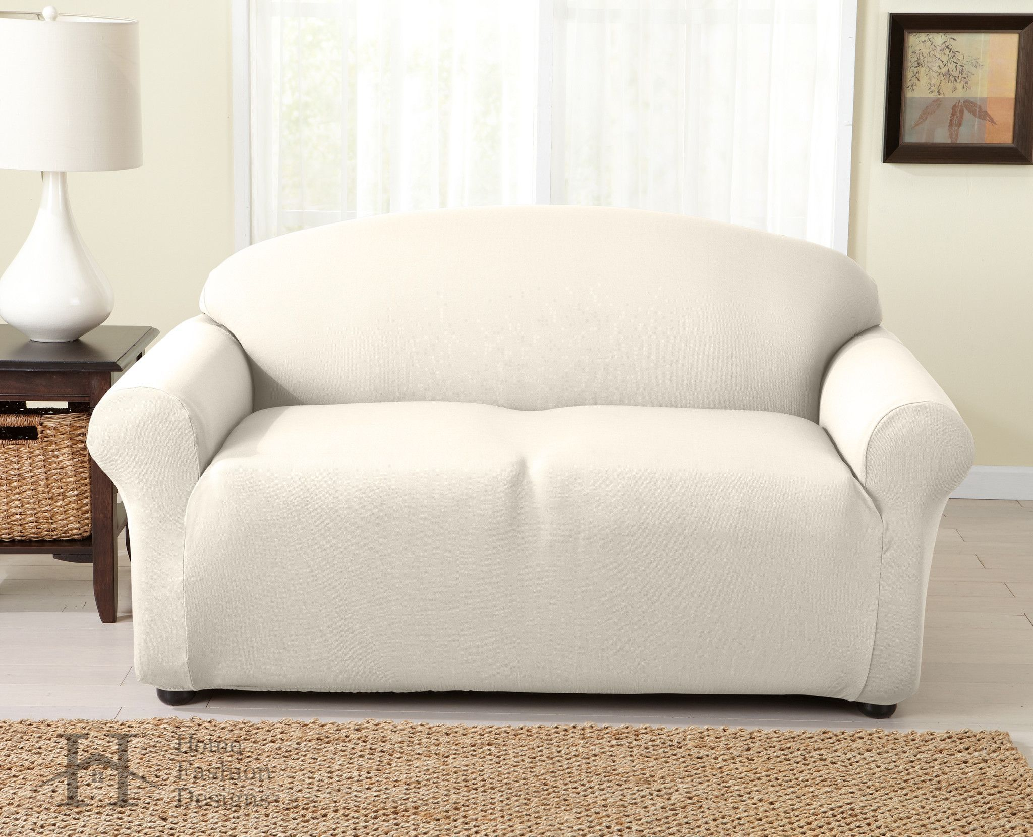 Dawson Collection Twill Strapless Slip Resistant Form Fit Furniture Slipcover