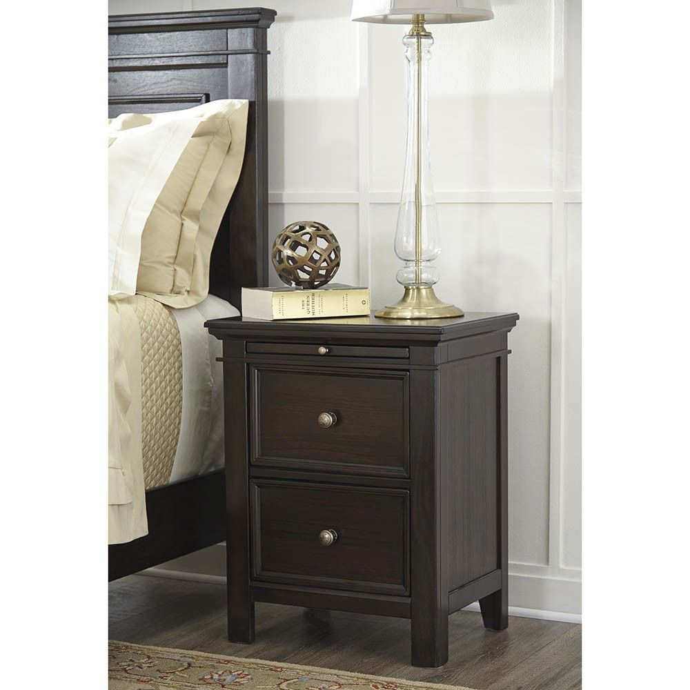 Alexee Two Drawer Bedside Table Ashley Furniture Tables Nightstand Timeless Clic