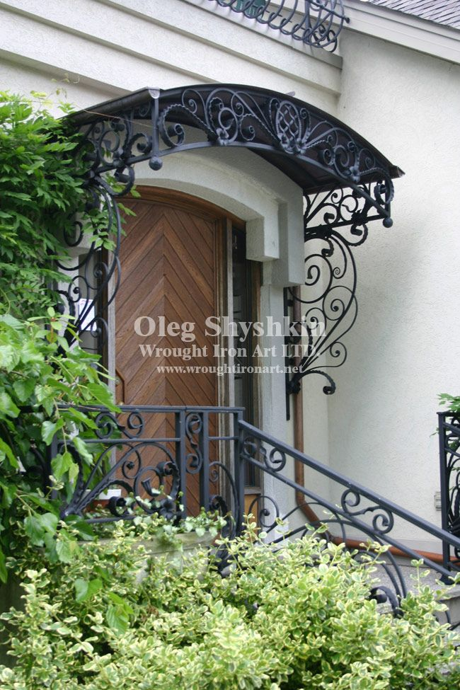 front door wrought iron awning - Google Search   Wrought ...