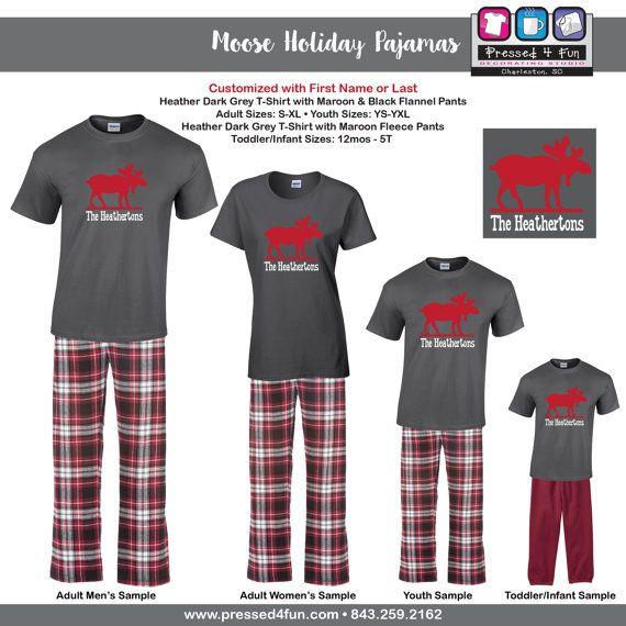 15a3eaffd6 Holiday Pajamas   Youth Loungewear Moose Design