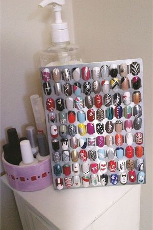 Clever nail art displays prinsesfo Image collections