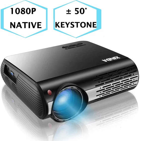 "XINDA 5000 Lux Projector with 300""Display,±50°4D Keystone Correction"