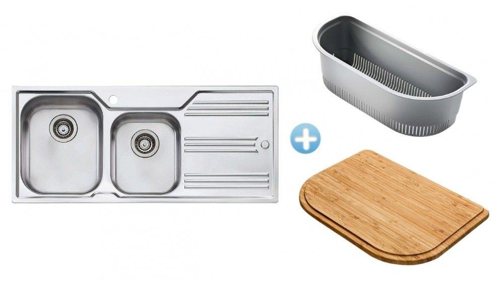 Oliveri Melbourne 1 & 3/4 Bowl Sink - Left Hand - Sinks - Cooking ...