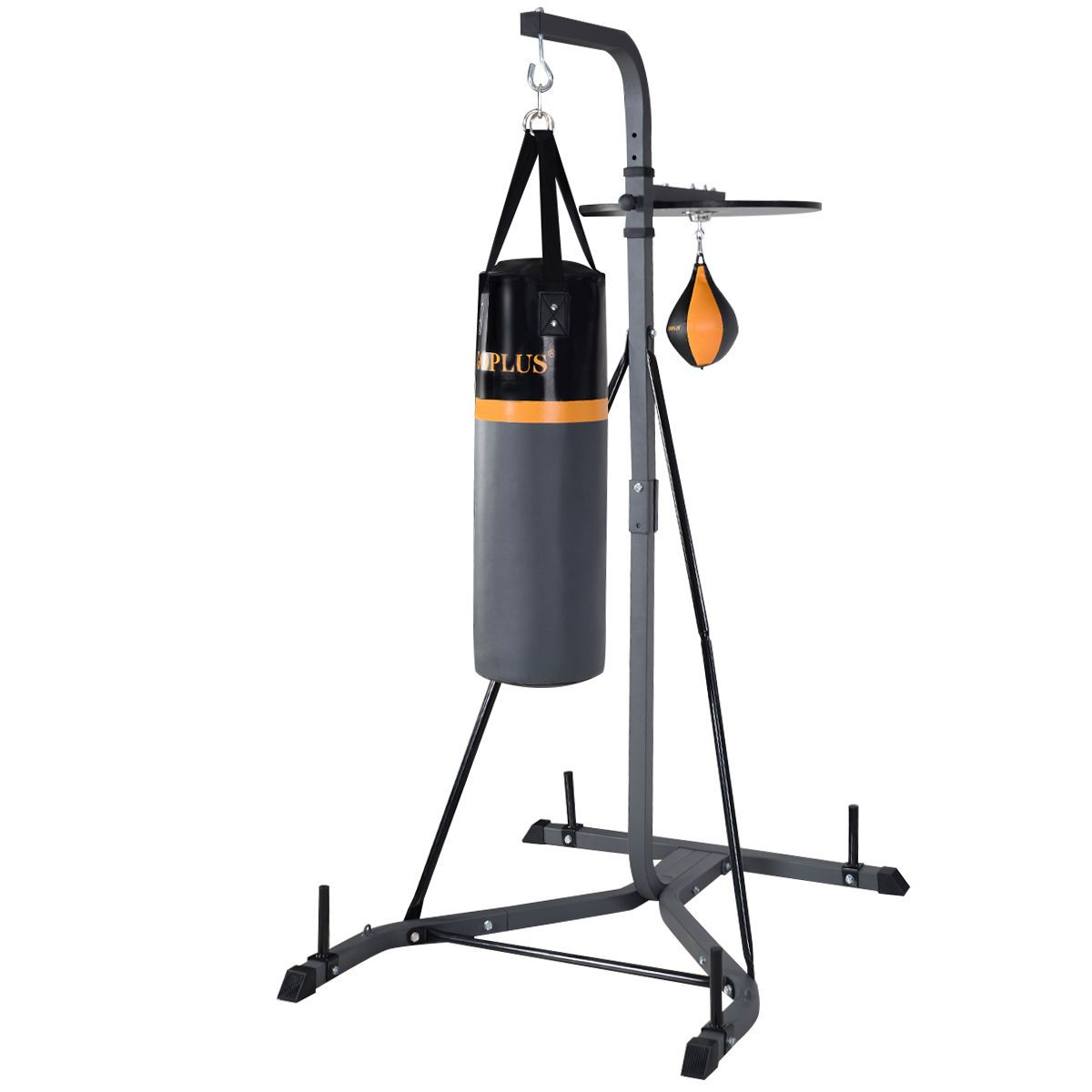 2 in 1 punch bag wall bracket steel mount hanging stand