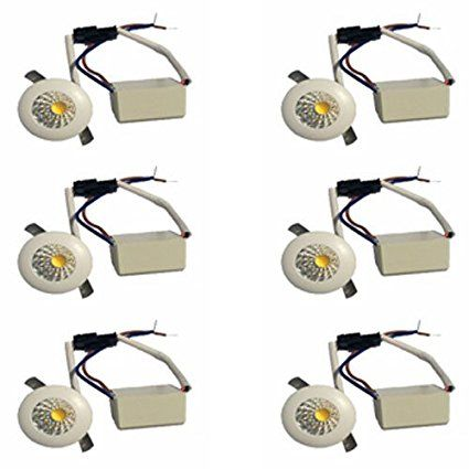 Galaxy 1 Watt Led Cob Spot Light Button Light Warm Light Round Driver Included Pack Of 6 Warm Light Galaxy Lights Led