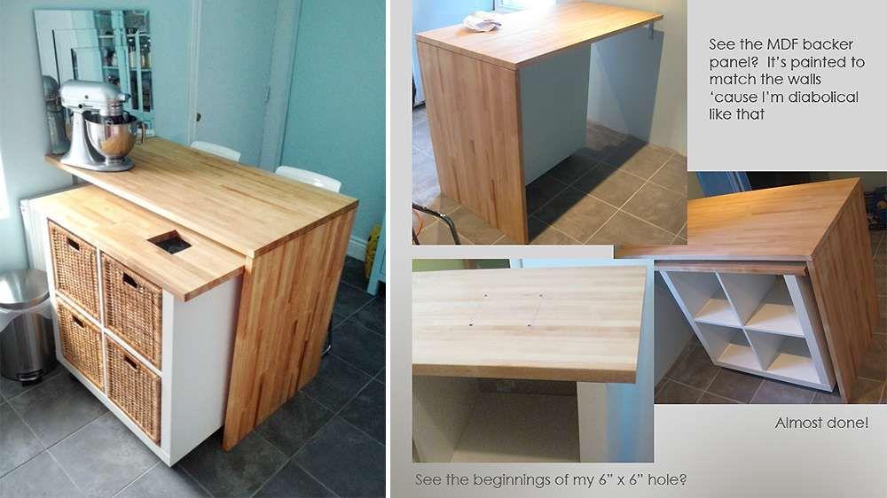 Îlot de cuisine meuble Ikea Sketchy Styles CITE s\u0027invente