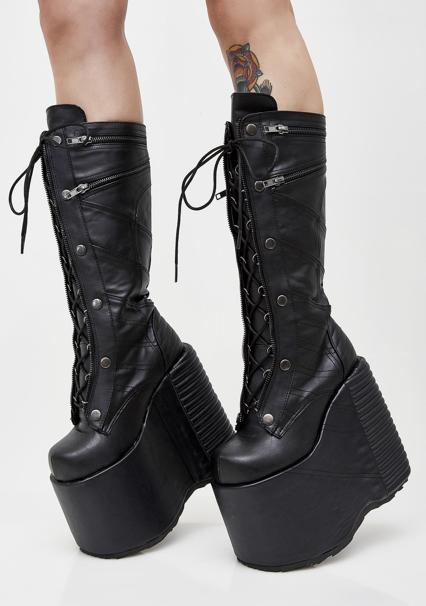 ffeff7714c3 Demonia Underworld Platform Boots cuz you re the queen of darkness. These  insane boots have thikk platform soles