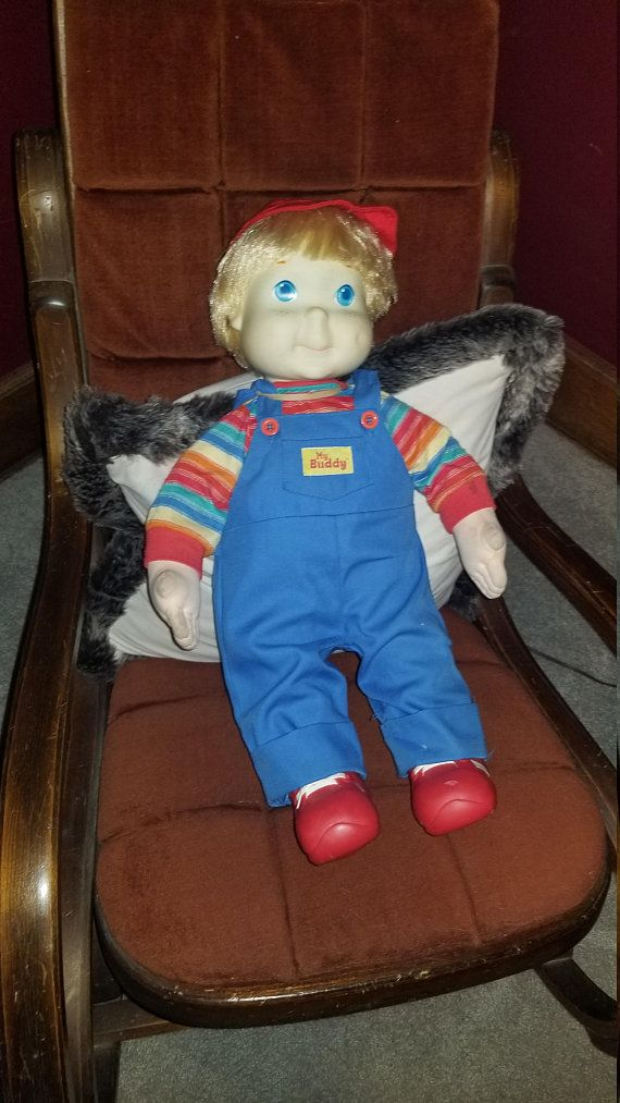 Vintage 1980s Original Blonde My Buddy Doll With Hat And