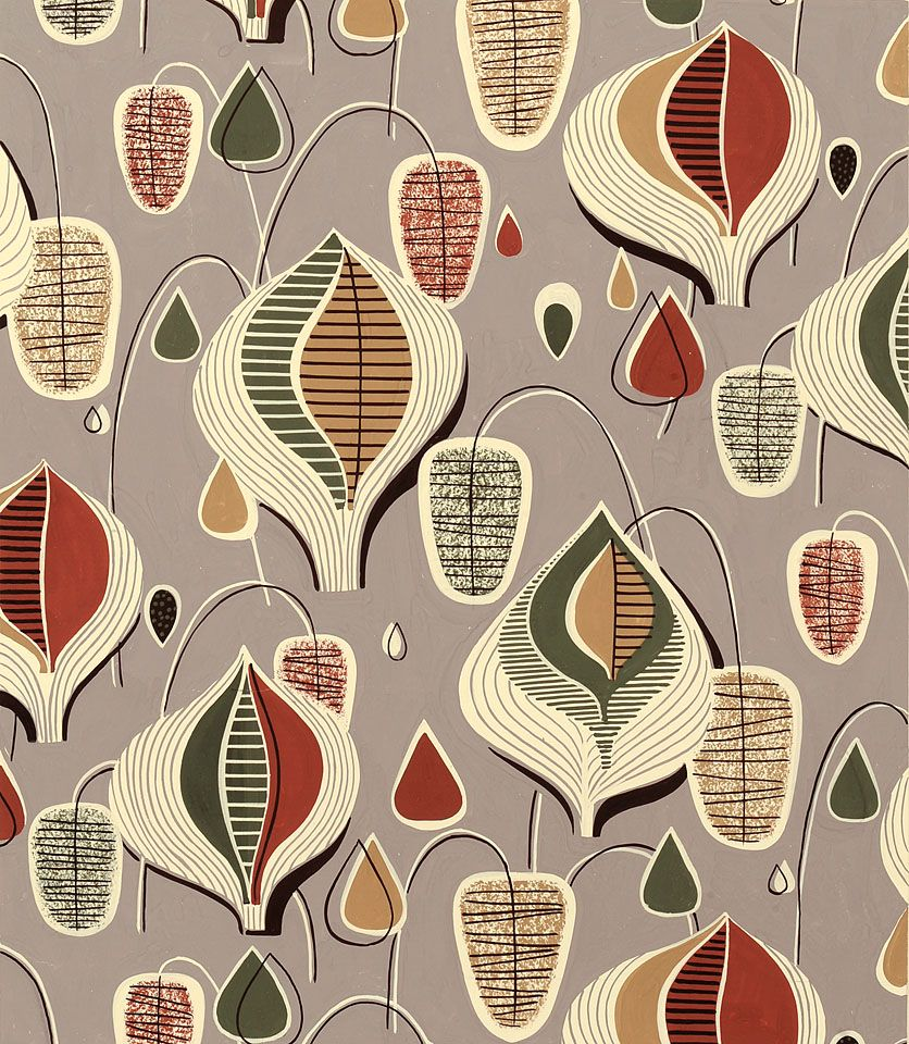 1950s fabric patterns images for Modern fabrics textiles
